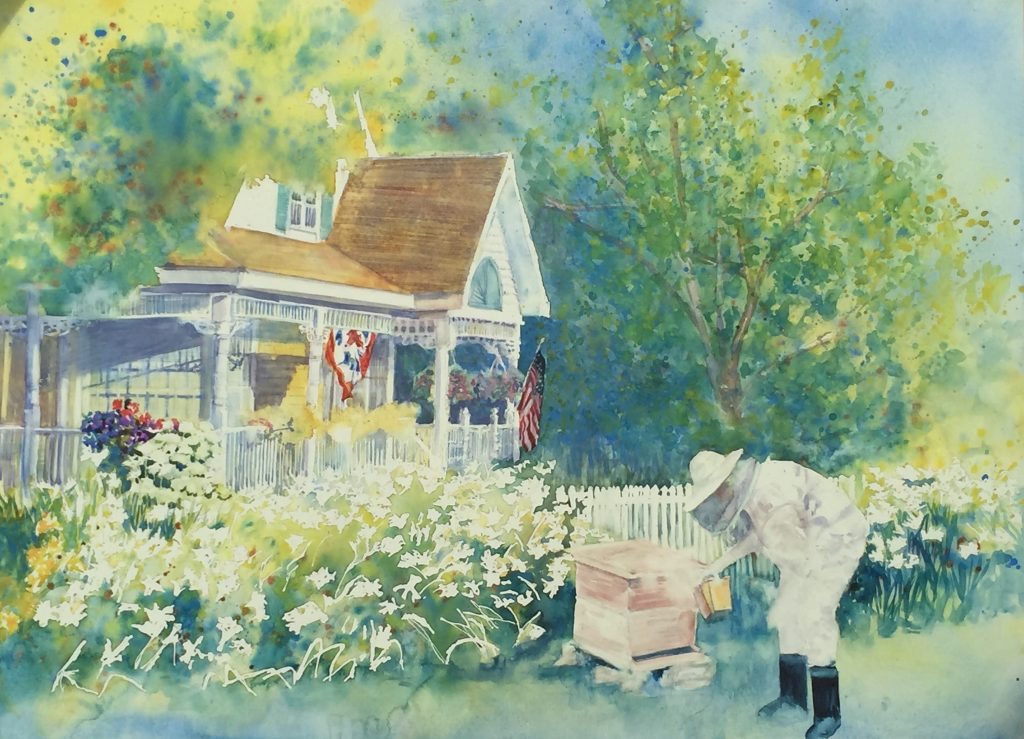 BeeKeeper's Cottage- painting by Rebecca Zdybel
