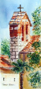 The Bells of San Fedele- Watercolor by Rebecca Zdybel