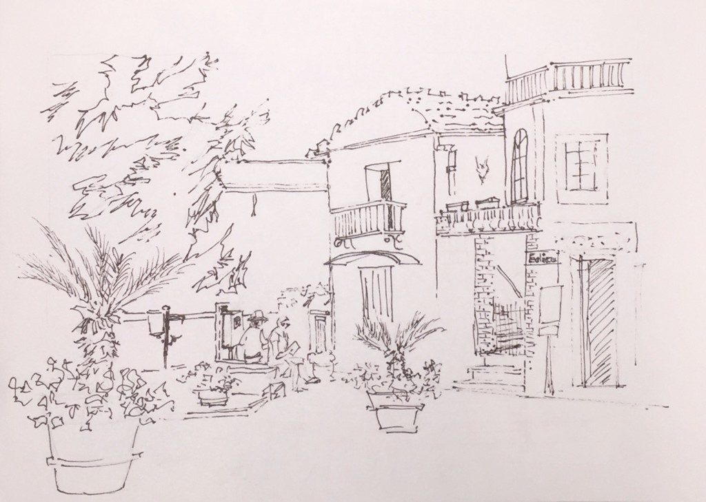 From my sketchbook, done on site while visiting Ravello, Italy