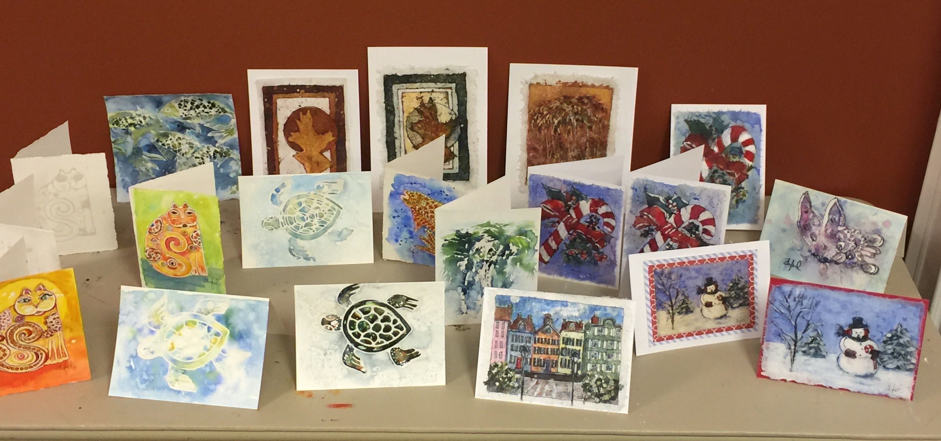 All the new batik lessons available to paint in class!