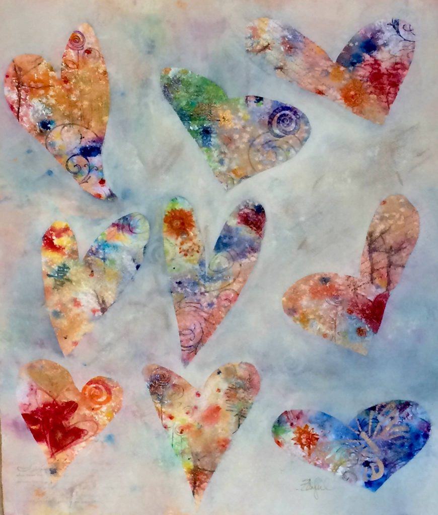 Rebecca Zdybel- Abstract Hearts